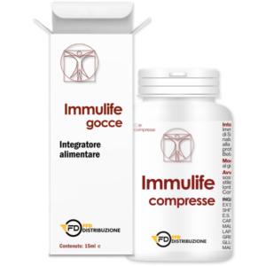 Immulife integratore naturale per le difese dell'organismo in gocce o compresse